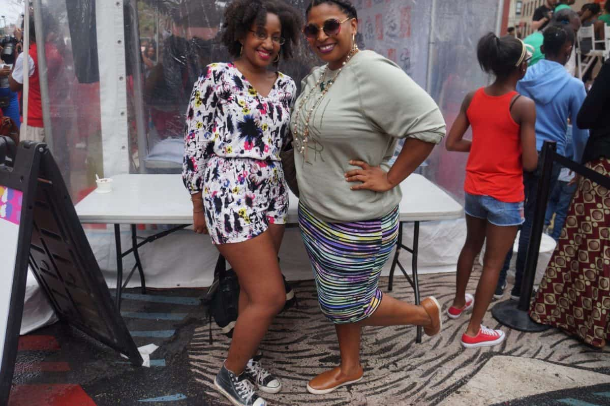 essence street style block party with Kris