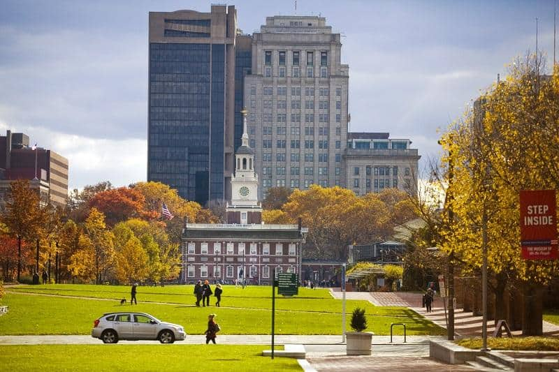 Best Fall Day trips from NYC - Philly Independence Hall