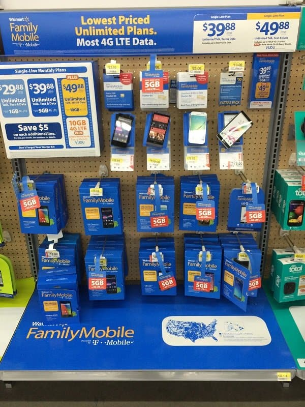 Walmart Family Mobile Section