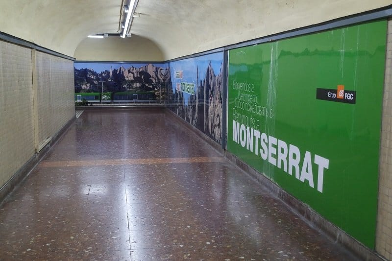 FGC to Montserrat from Barcelona via train