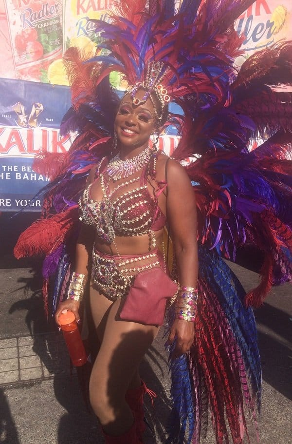 Bahamas Junkanoo Carnival - Masquerader at the Road Fever Parade