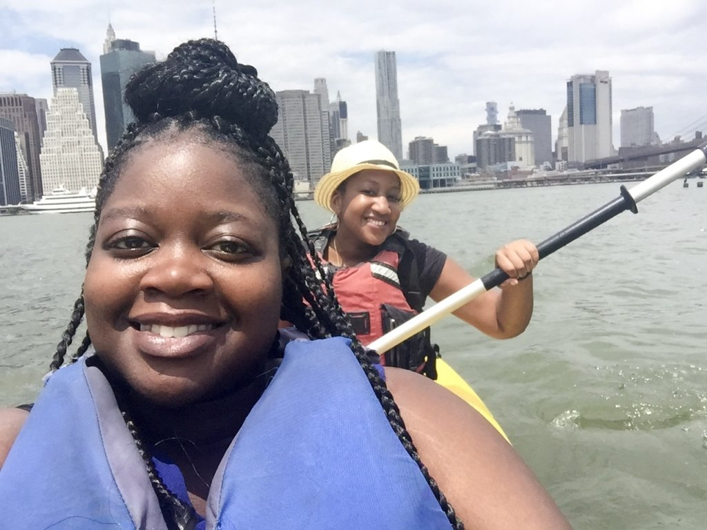 Kayaking at Brooklyn Bridge Park with Nays Voice