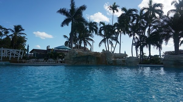 Pool views at the Warwick Bahamas