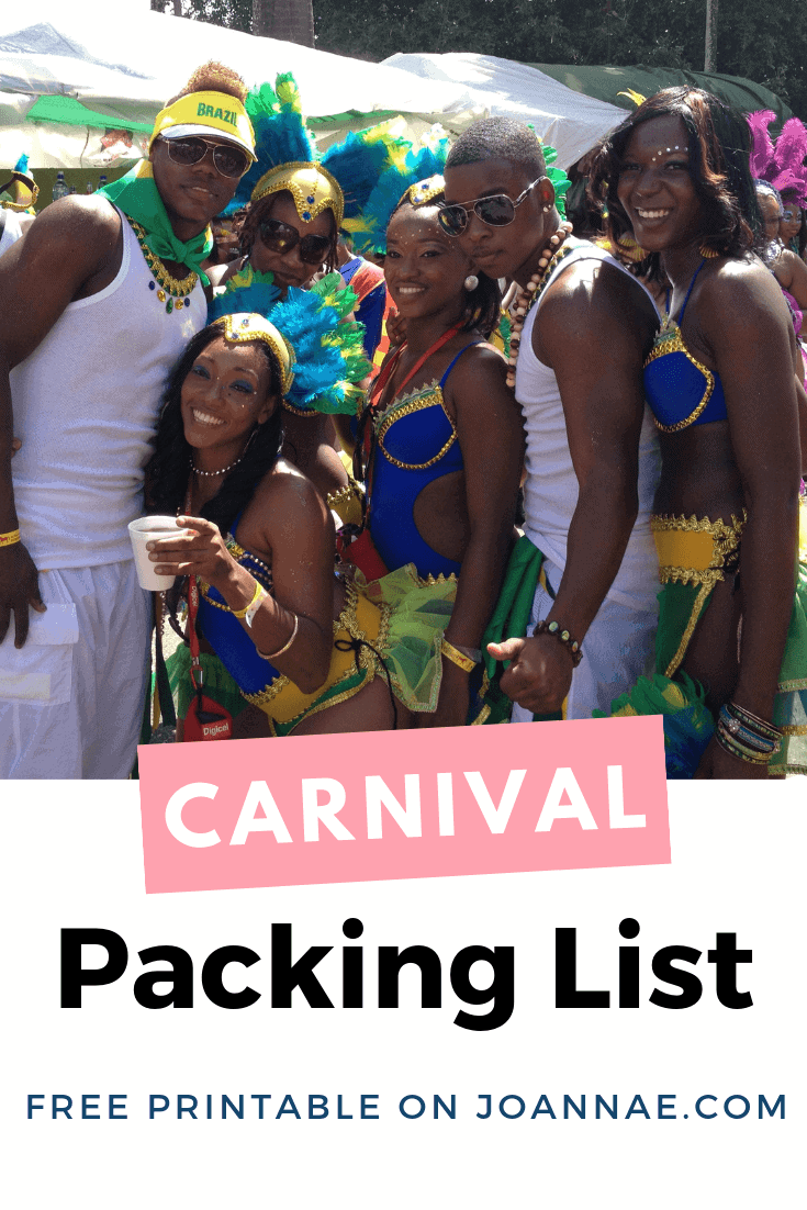 Carnival Packing List - What to Pack for Trinidad Carnival