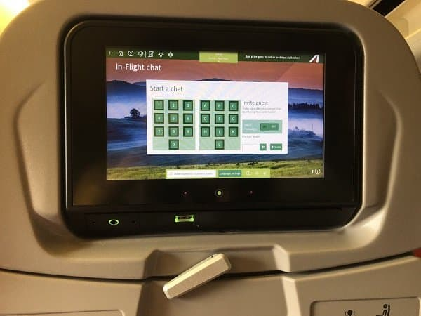 alitalia airlines in-flight chat