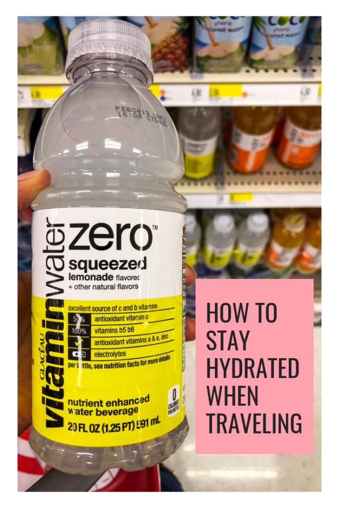 how to stay hydrated when traveling