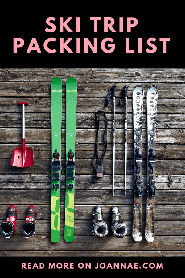 Weekend Ski Trip Packing List