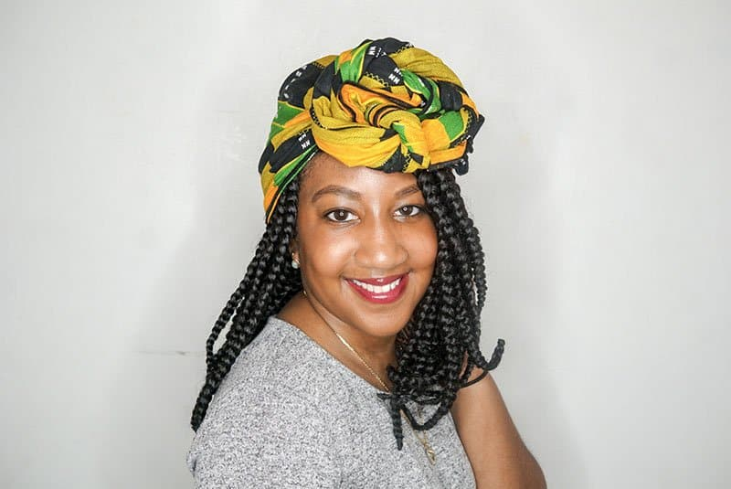 Easy Headwrap Styles for natural hair - Spiral Knot