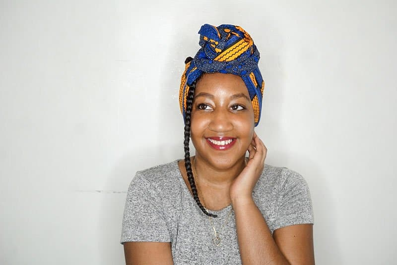 Easy Headwrap Styles for natural hair - The twisted knot