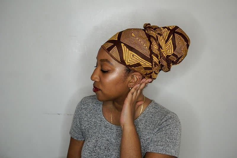 Easy Headwrap Styles for natural hair - The Bun