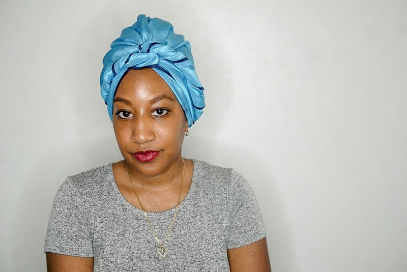 Easy Headwrap Styles for natural hair turban with a twist