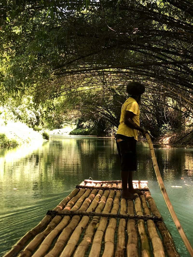How to spend a weekend in Jamaica - Martha Brae River Bamboo Raft