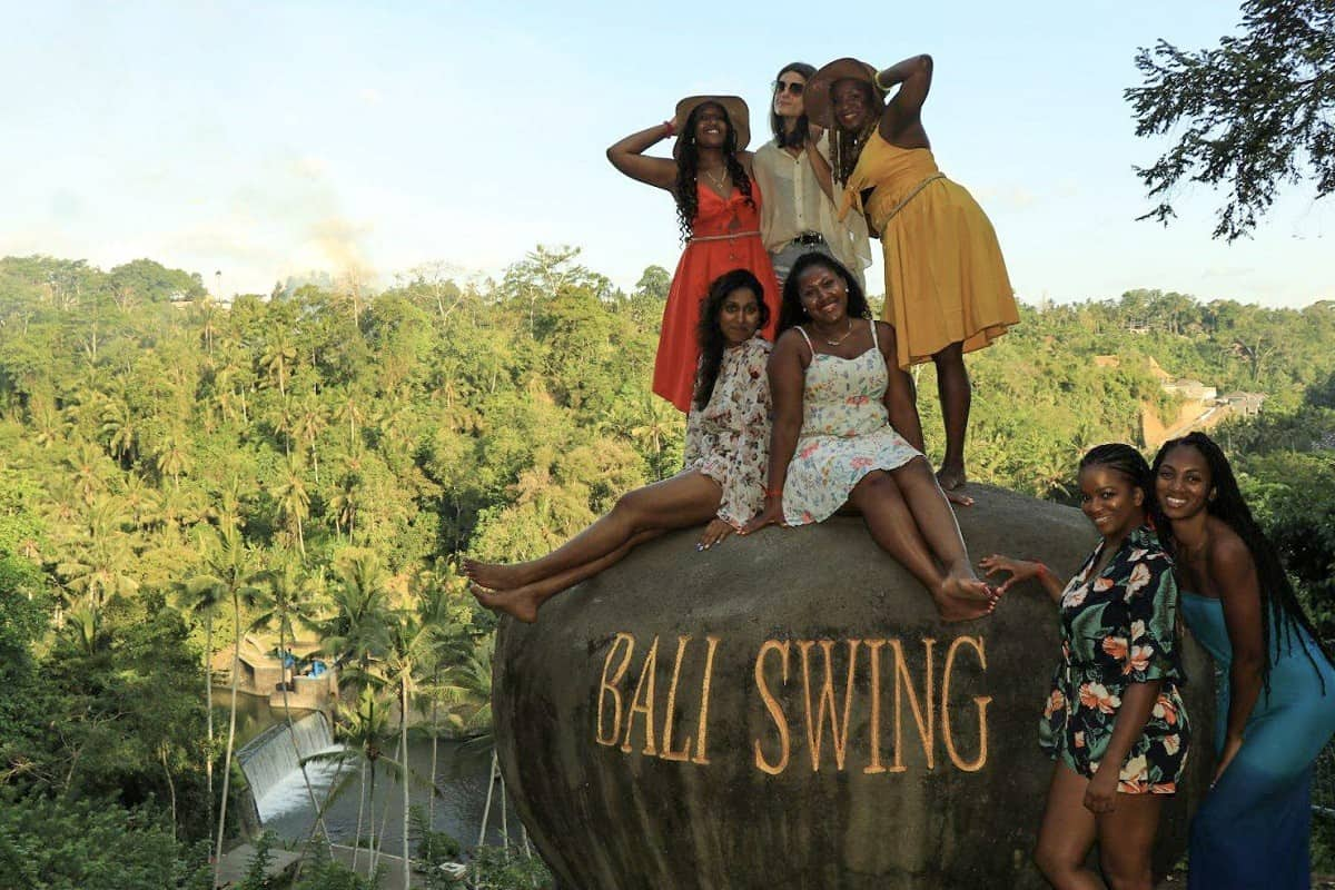 Group Photo at the Bali Swing Ubud - bali swing ubud price, bali swing tegalalang, bali swing price, bali swing cost, bali swing accident, ubud swing price, bali swing location. bali swing death, bali swing tegalalang price, bali swing tegalalang ubud