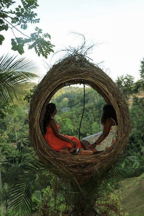 One of the cute nests at Bali Swing Ubud